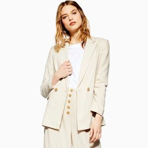 Topshop women's linen blazer